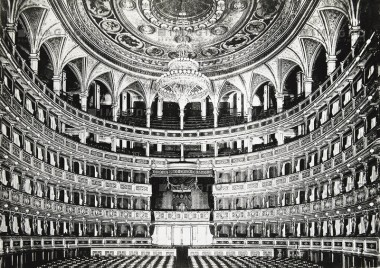 Zuschauerraum der  Wiener Hofoper